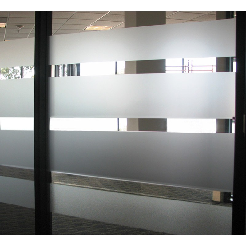 Etched Glass Effect Vinyl Window Graphics - Vinyl etched glass window decals
