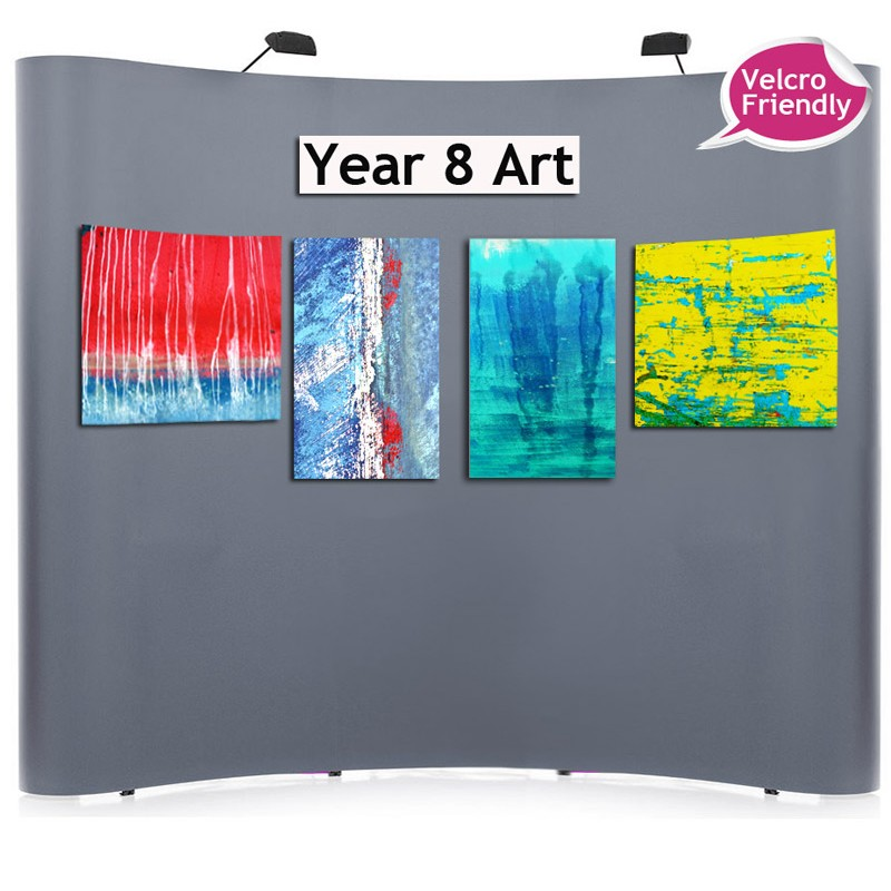 Fabric Exhibition Stand Examples : Velcro friendly fabric pop up exhibition stand