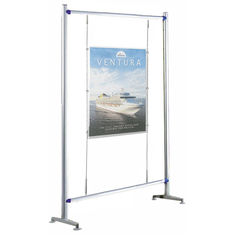Exhibition Stand Poster : Floor standing a poster cable display discount displays