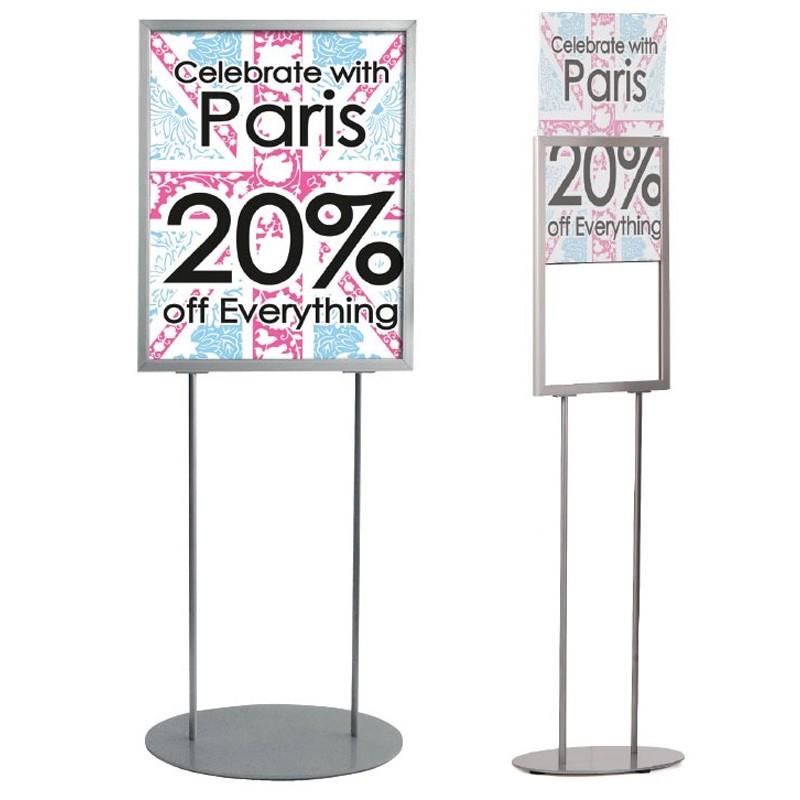 Floor Standing Retail Poster Holder Discount Displays
