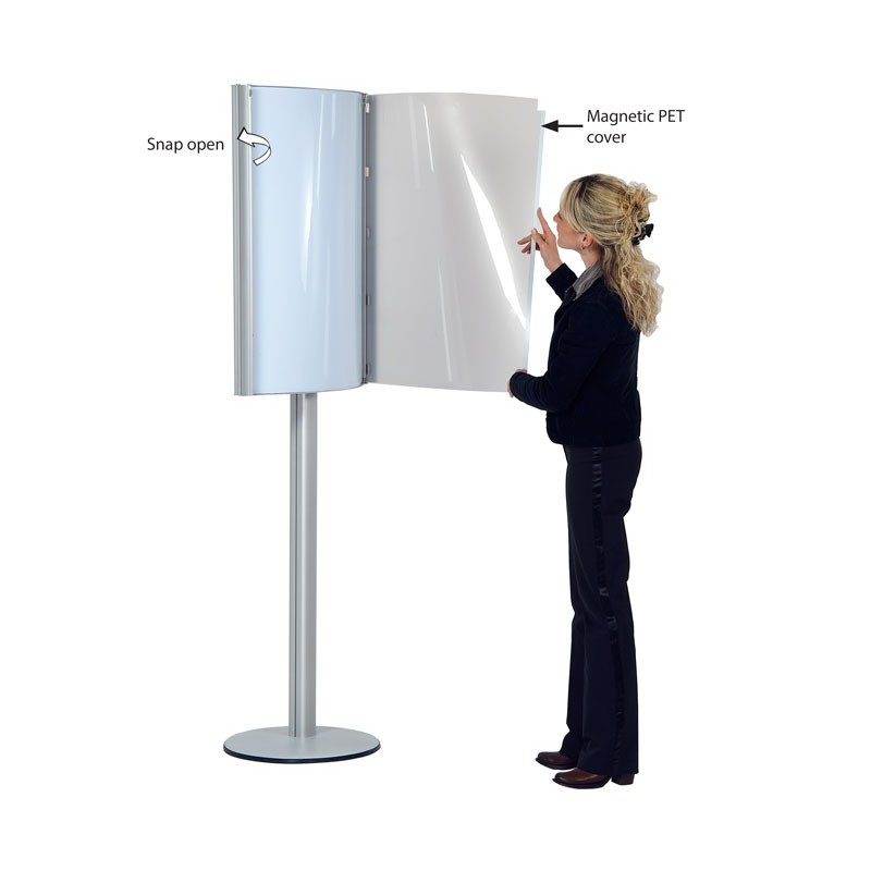 Convex Free Standing Poster Holder Discount Displays