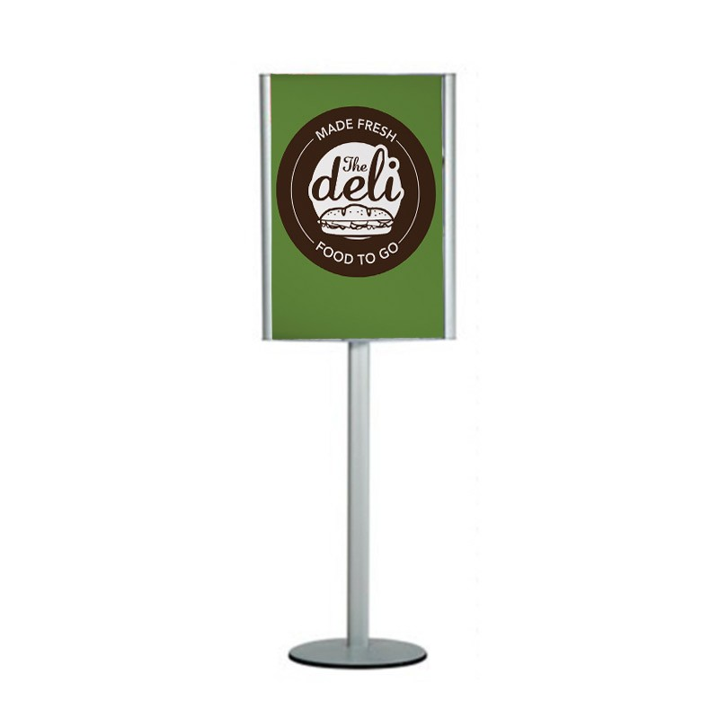 Free Standing Poster Holder Convex Poster Display Stand