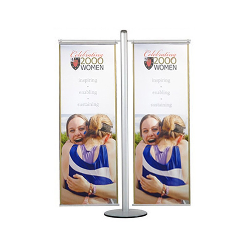 Free Standing Double Banner Display Stand Discount Displays