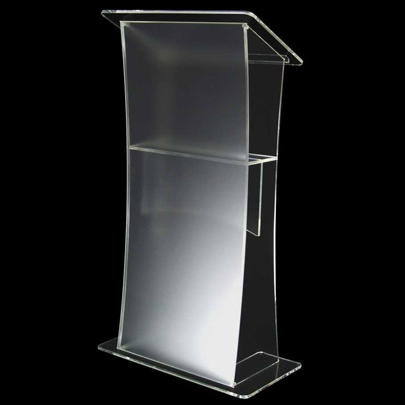 Exhibition Shell Graphics : Frosted effect acrylic lectern discount displays