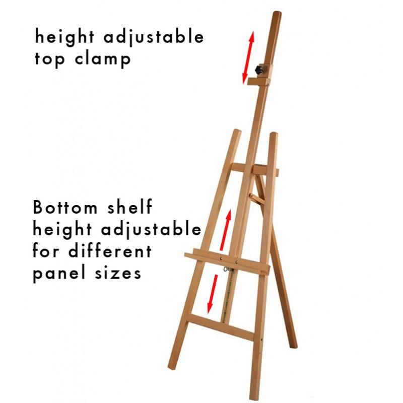 retail display easel height adjustable discount displays