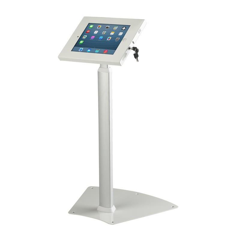 Adjustable Height Table Base Trade Show iPad Stand - Height Adjustable iPad Stand