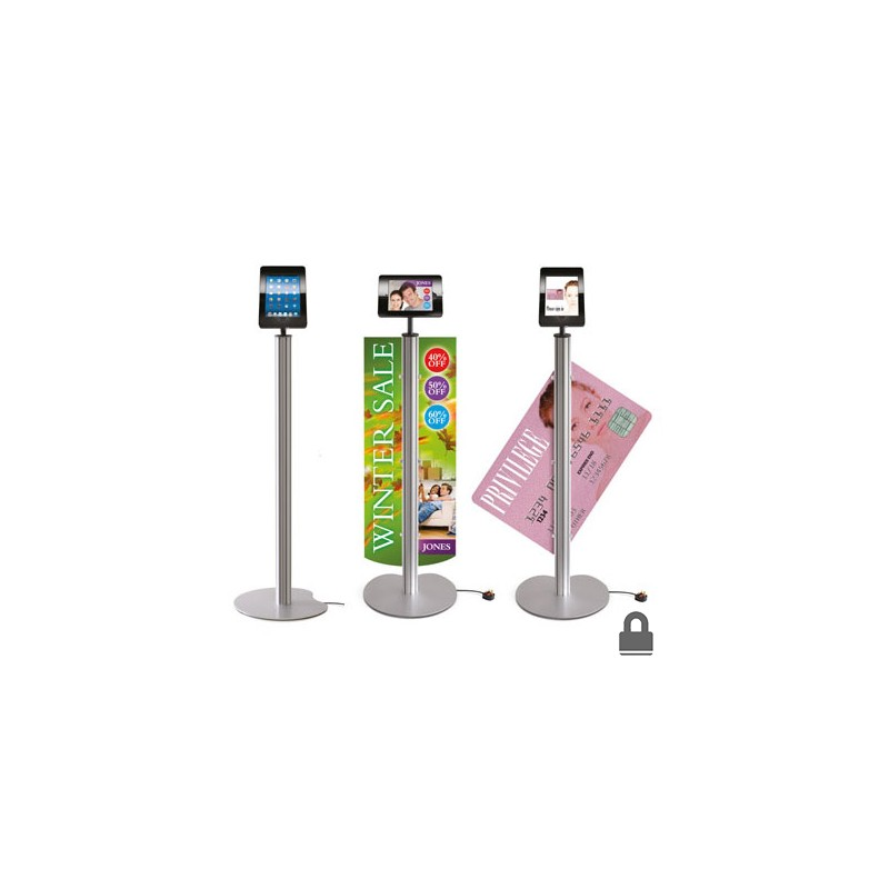 Ipad Floor Stand With Graphic Clips Discount Displays
