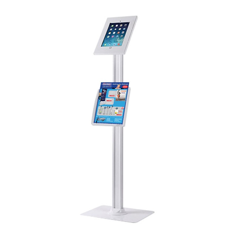 Ipad Stand With Literature Dispenser Discount Displays