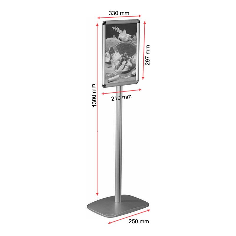 A4 Freestanding Sign Holder Display Stand Discount Displays