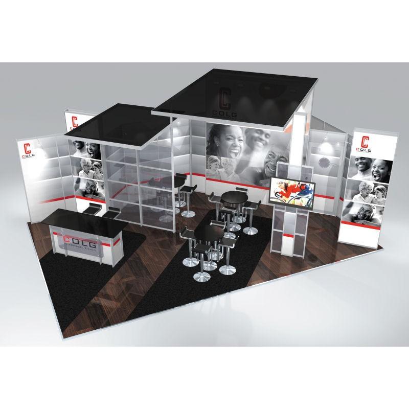 Custom Modular Exhibition Stands : Custom exhibition stands large modular stand