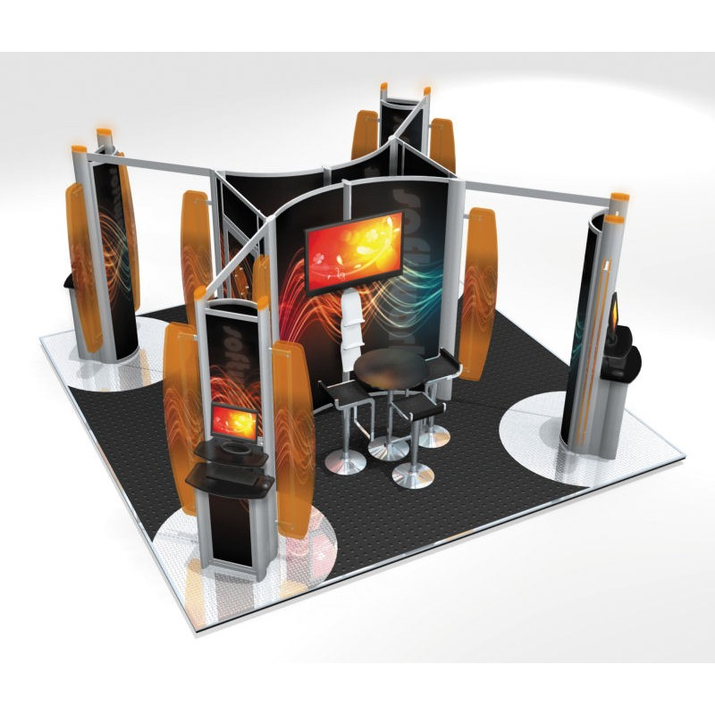 Modular Exhibition Stands Election : Modular exhibition stand island m