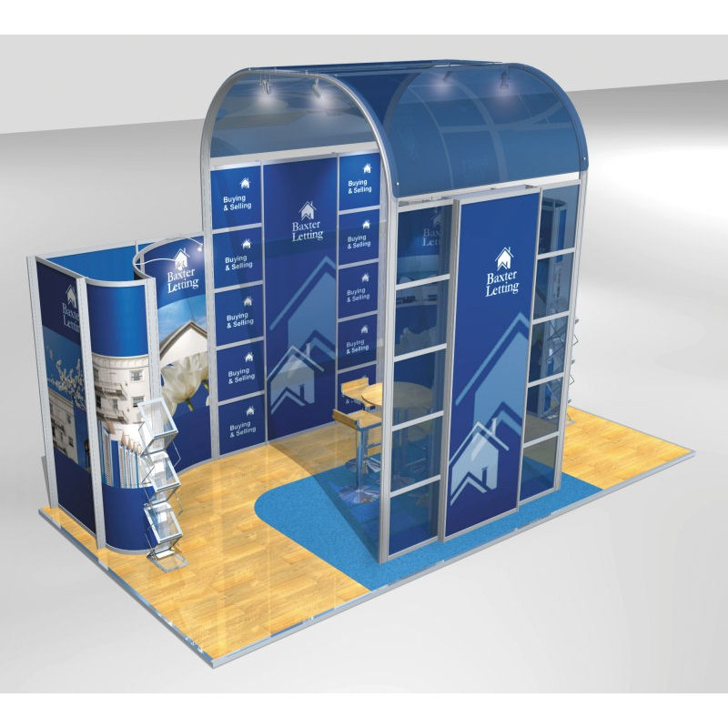Modular Exhibition Stands Zero : Aluminium modular display stand m discount displays