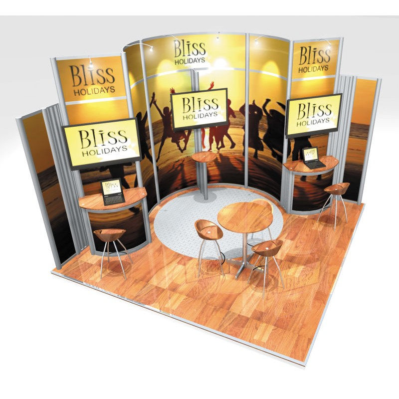 Small Exhibition Stand Yet : Small exhibition stand design idea discountdisplays