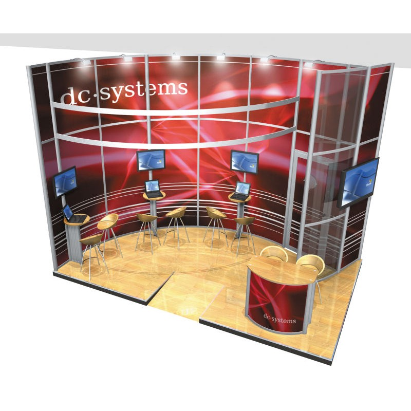 Small Modular Exhibition Stands : Modular exhibition stand system small display
