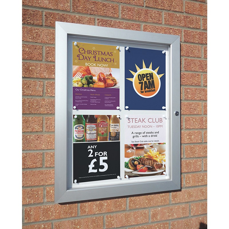 Lockable Magnetic Dry Wipe Notice Board Discount Displays