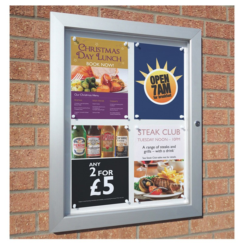 Lockable Notice Board - Display Posters Outside Safely