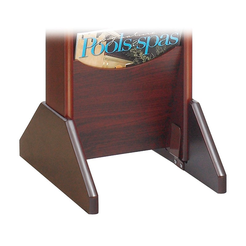 Wooden Wall Mountable Leaflet Holders Discount Displays