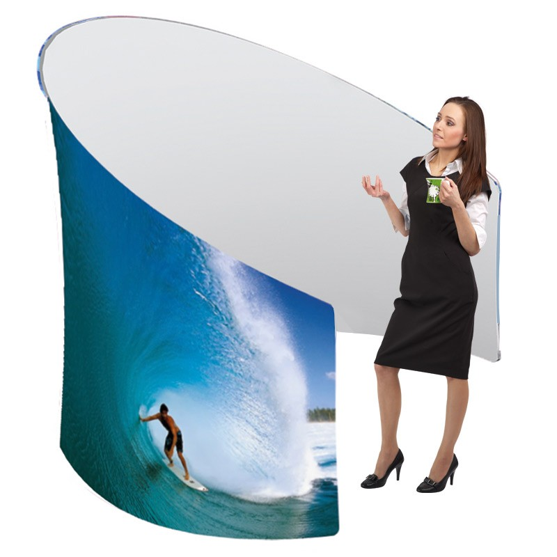 Stretch Fabric Exhibition Stands : Custom printed meeting pod discount displays