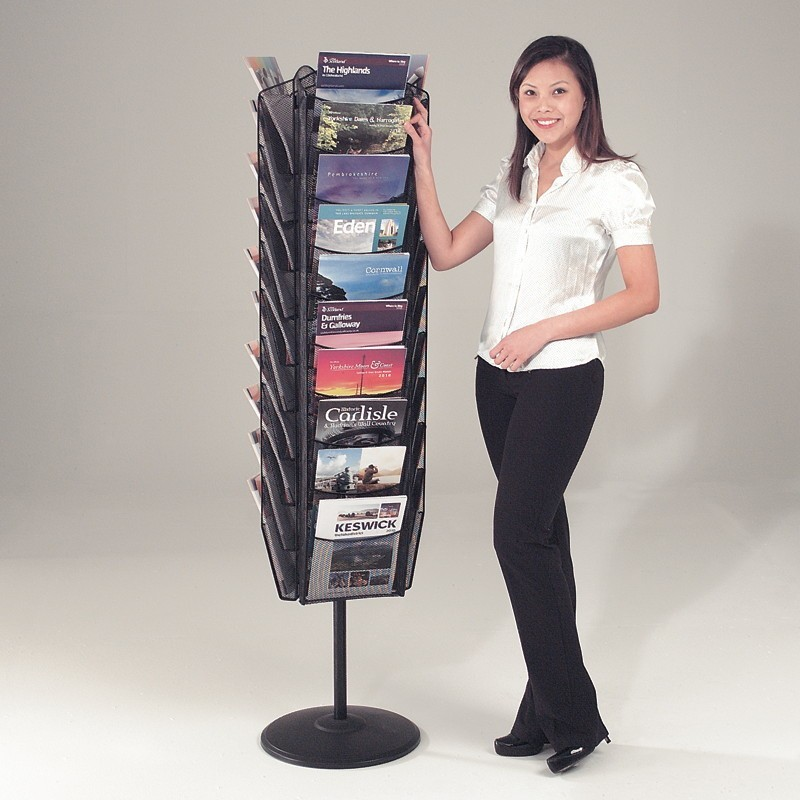 30 Pocket Mesh Rotating A4 Literature Rack Discount Displays