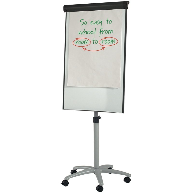 chart stand with wheels: Wheeled flipchart easel a1 discount displays