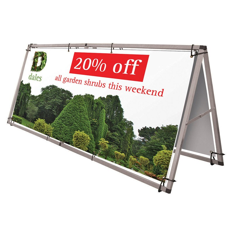 Portable Outdoor Banner Frame Discount Displays