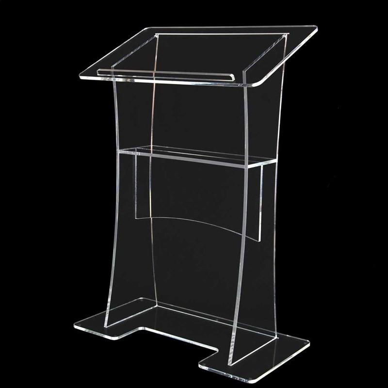 Clear Acrylic Lectern With Shelf Lifetime Guarantee