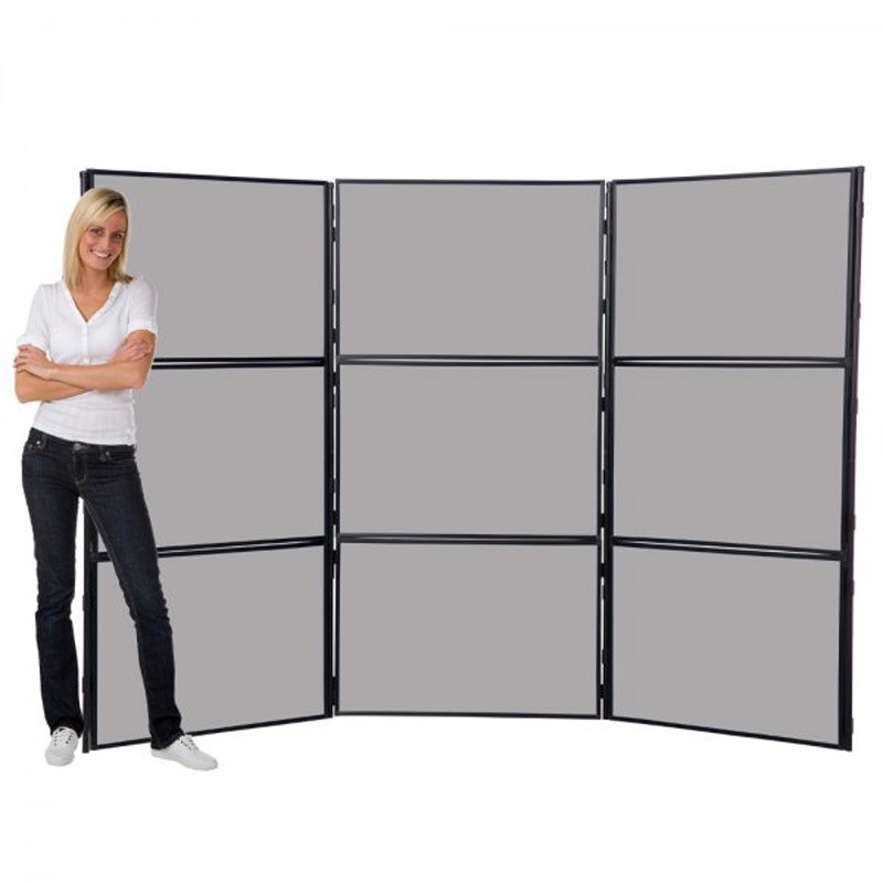 9 Panel Free Standing Display Board Discount Displays