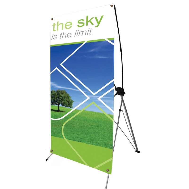 X Banner Stand Tensioned Banner Display Stand