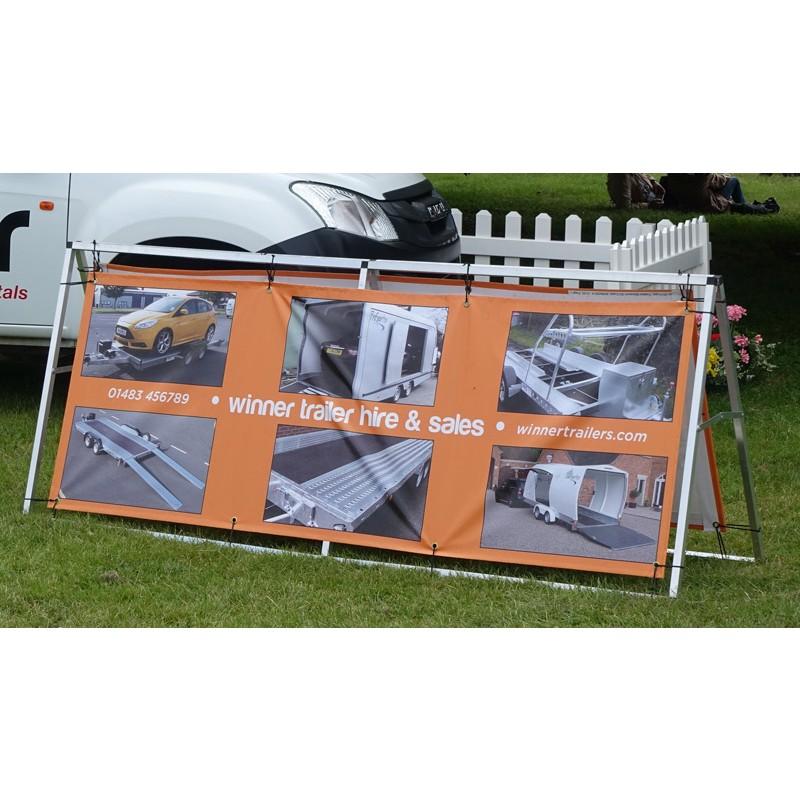 Portable Outdoor Banner Frame