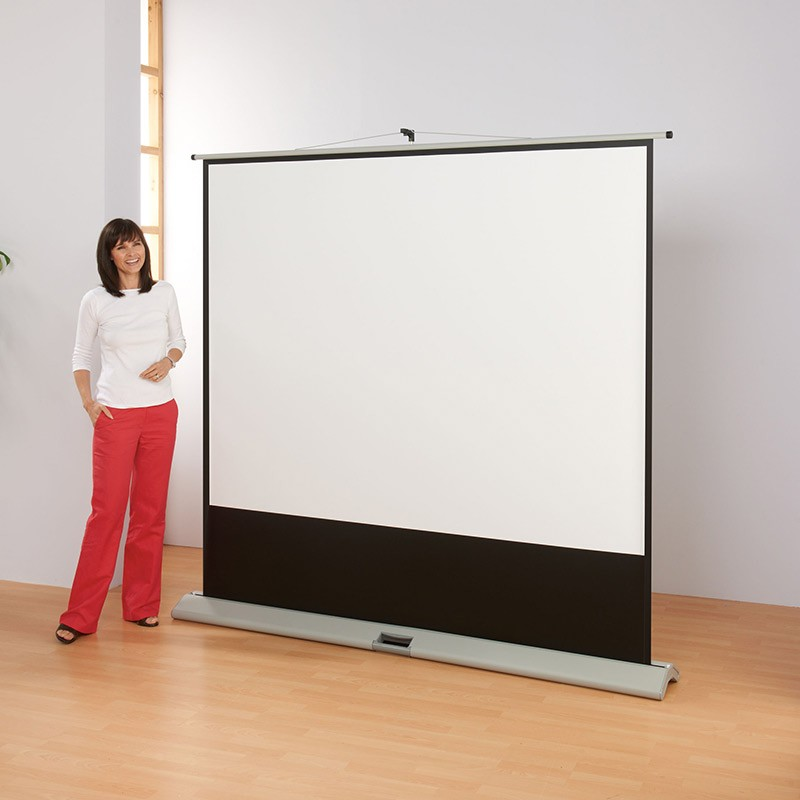 Portable floor projector screen for Portable video projector