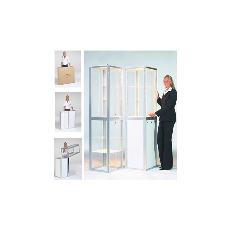 Portable Exhibition Display Cases : Display cases for trade shows glass cabinets