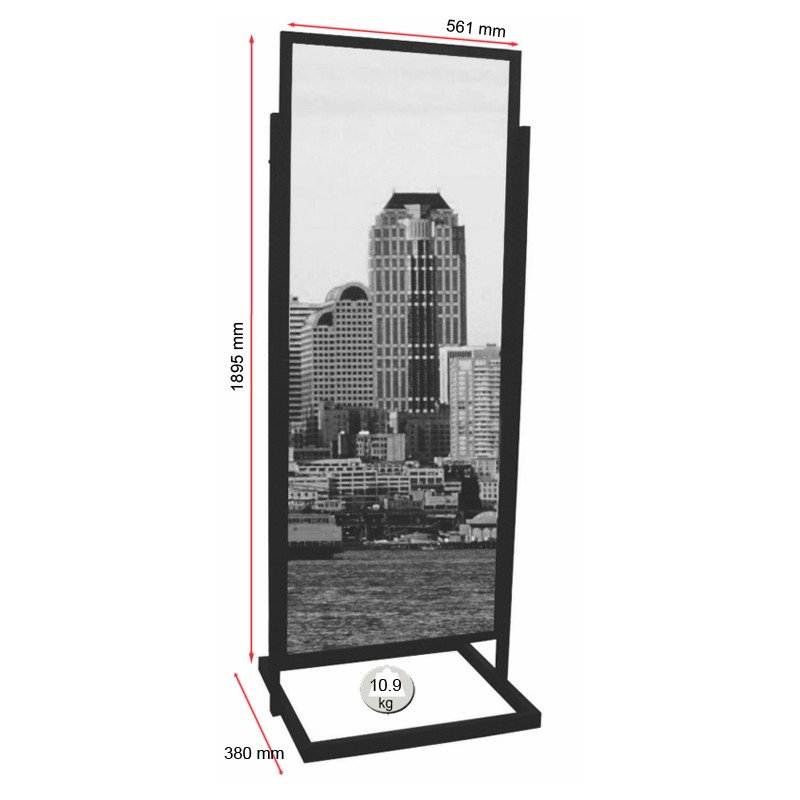 Exhibition Stand Poster : Freestanding double sided poster display stand discount