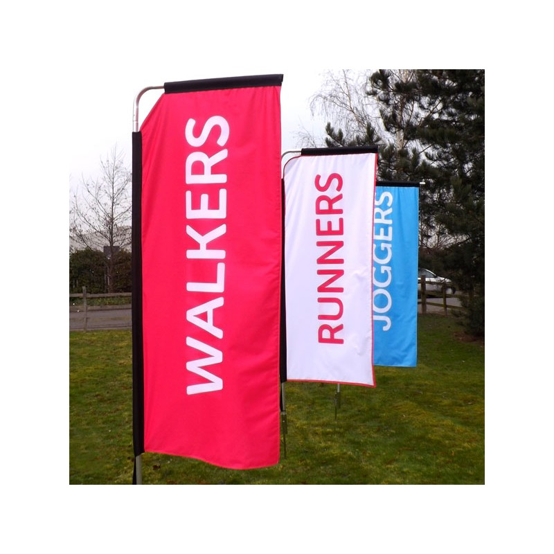 Custom Printed Portrait Event Flag Discount Displays