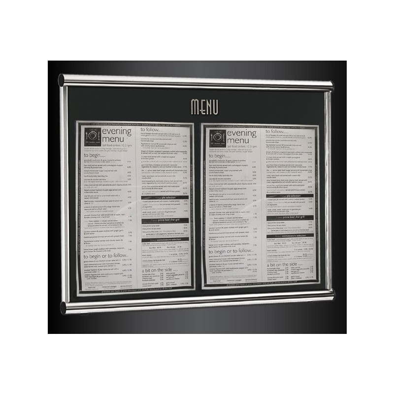 Wall Mounted Restaurant Menu Frame Discount Displays
