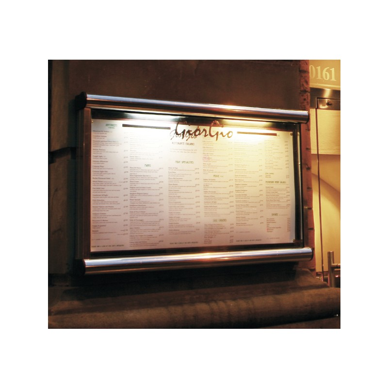 Restaurant Menu Case Battery Powered Menu Case