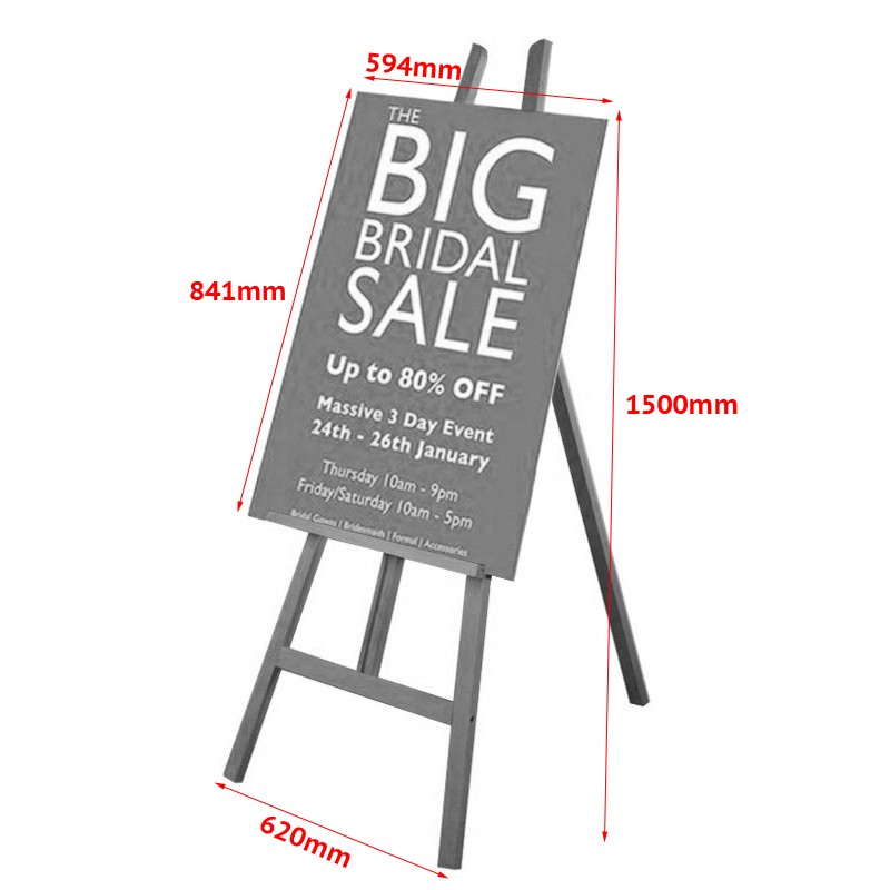 Exhibition Stand Measurements : Display easel with foamex panel