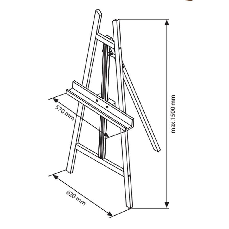 Height Adjustable Wooden Display Easel Discount Displays