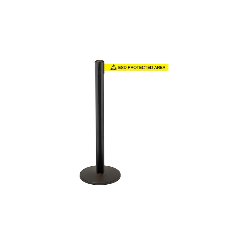 Esd Utility Post Retractable Safety Barrier System