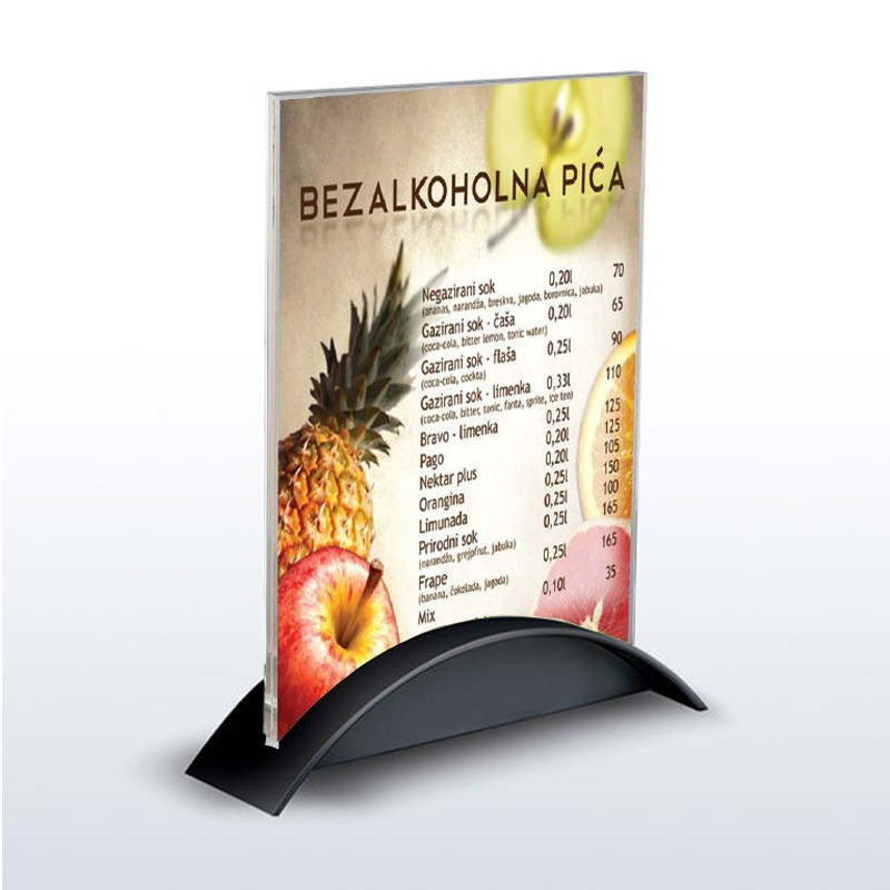 Acrylic Menu Stand Discount Displays