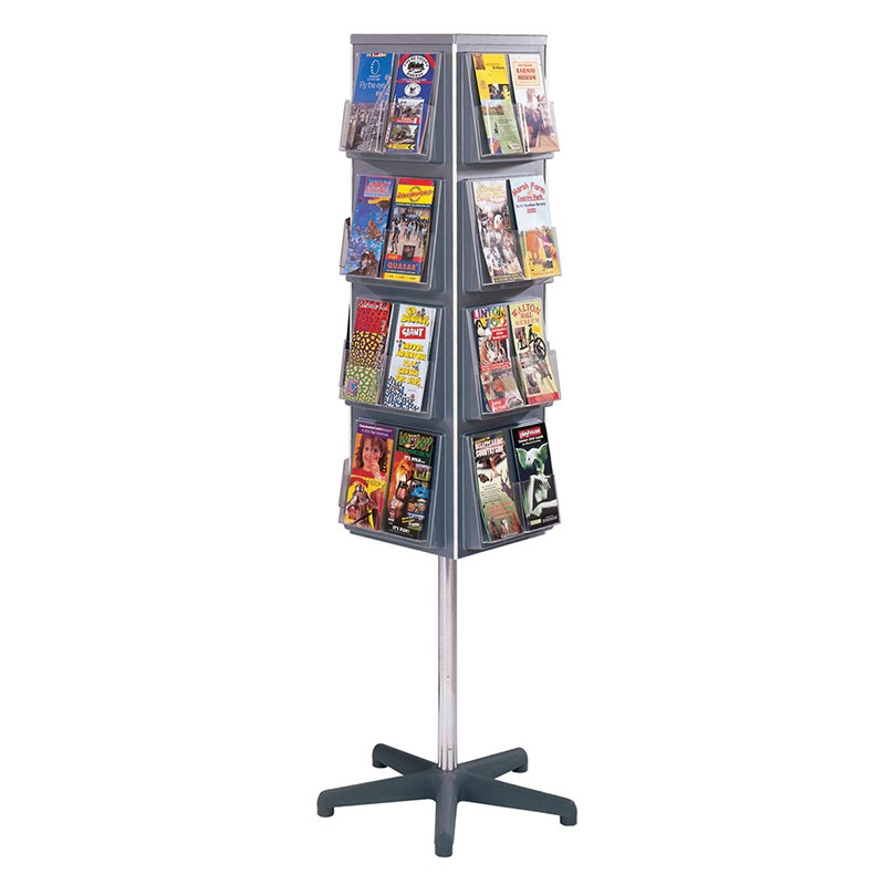 4 Sided Rotating Brochure Display Stand Discount Displays