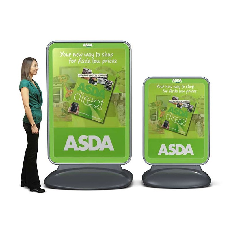 Large Water Fillable Based Forecourt Sign Discount Displays