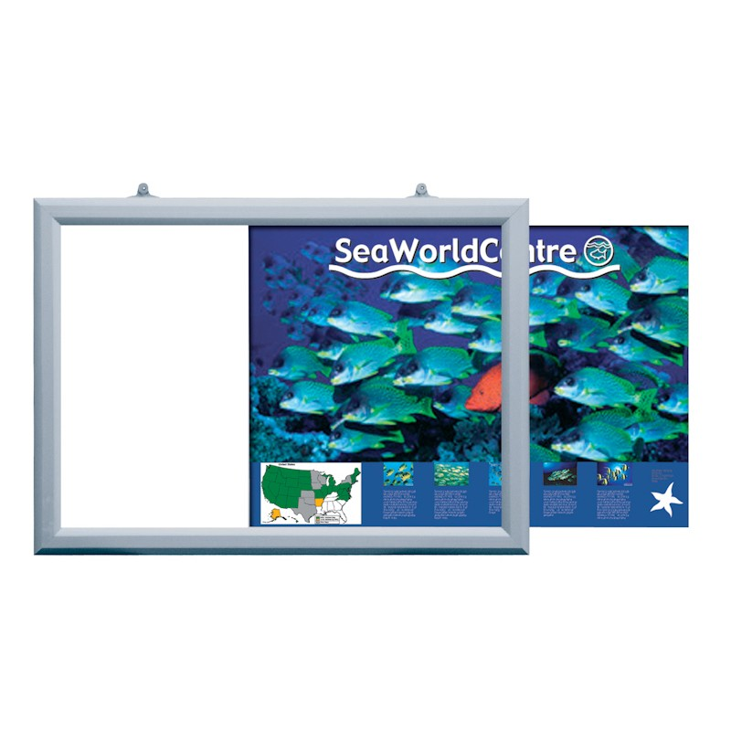 Double Sided Slide In Poster Frame | Discount Displays