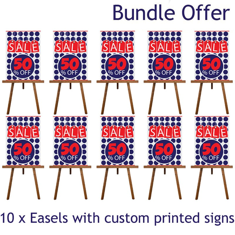 Display Easel With Printed A1 Sign 1595mm High
