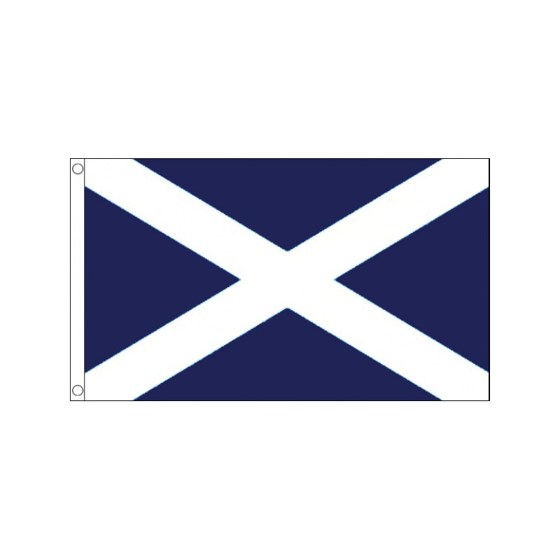 SCOTLAND DARK BLUE ST ANDREW TABLE FLAG SET OF 4 FLAGS WITH BASE SCOTTISH