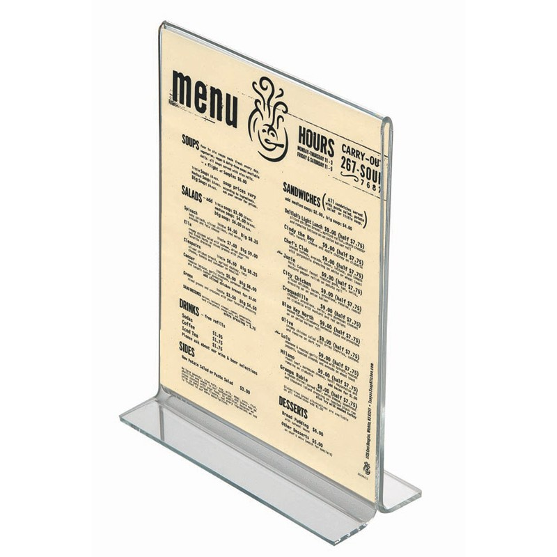 Acrylic Menu Holder Menu Displays Discount Displays