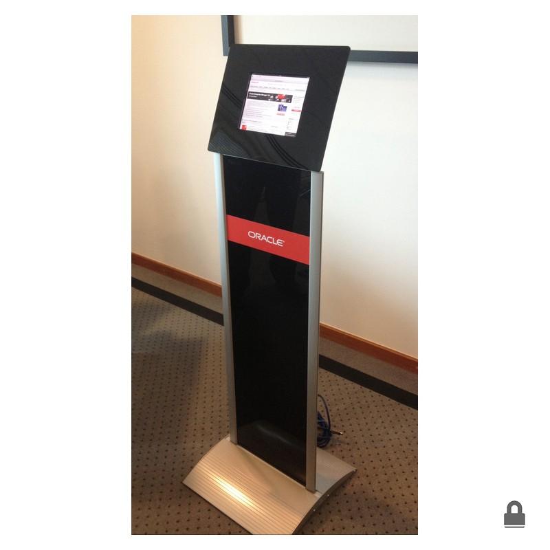 Tablet Floor Stand W Graphic Panel Discount Displays