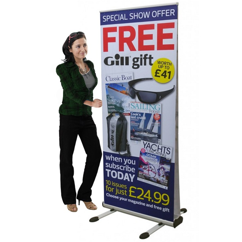 Outdoor Roll Up Banner Stand Discount Displays