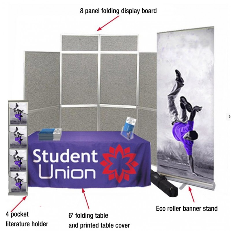 Portable Exhibition Folding Display : Portable display school or exhibition discount displays