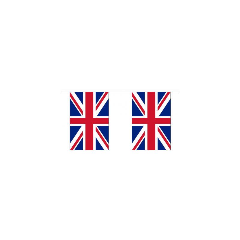 Union Jack Flag Bunting 10 Flags 3m Length Discount