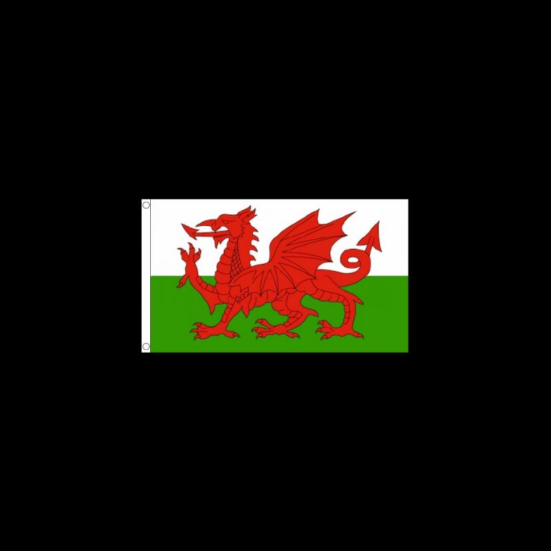 Welsh Flag 5ft X 3ft Printed Flag Discount Displays